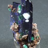 Azurite Calcite Brochantite & Malachite