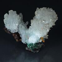 Aragonite Cuprian Adamite Copper & Goethite