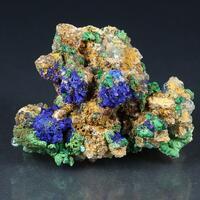 Azurite Conichalcite & Arsenocrandallite