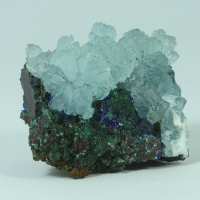 Aragonite Cuprian Adamite & Azurite