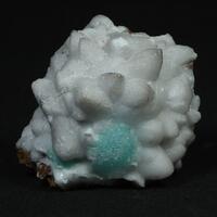 Cuprian Adamite Aragonite & Calcite