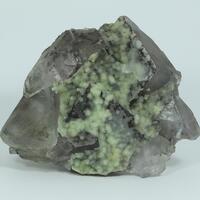 Fluorite & Cuprian Aragonite