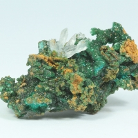 Cuprian Adamite & Aragonite