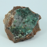 Cuprian Adamite On Calcite