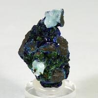Azurite Zincolivenite Aragonite & Cuprite