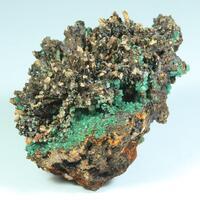 Cuprian Adamite Calcite & Goethite