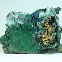 Copper Aragonite Zincolivenite Azurite Malachite & Adamite