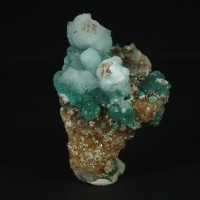 Cuprian Adamite & Calcite