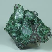 Olivenite On Goethite Psm Calcite