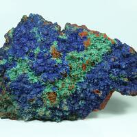Azurite Malachite & Goethite Psm Calcite