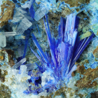 Caledonite Linarite Cerussite & Brochantite