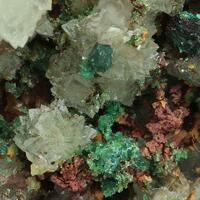 Aragonite Cuprite Azurite Malachite & Cuprian Adamite