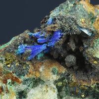 Linarite Quartz Chalcopyrite & Brochantite