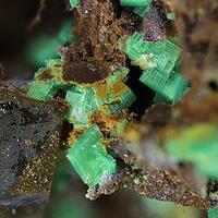 Torbernite & Quartz
