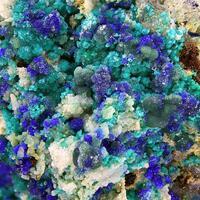 Theisite Tyrolite & Azurite