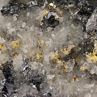 Gold Galena Sphalerite & Quartz