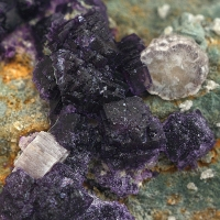 Apatite Fluorite On Quartz