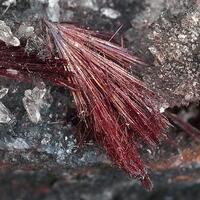 Kermesite On Rock Crystal