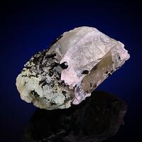 Tourmaline Var Verdelite On Rose Quartz & Rock Crystal