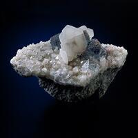 Fluorite & Calcite On Quartz