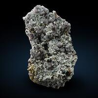 Dolomite & Chalcopyrite On Rock Crystal