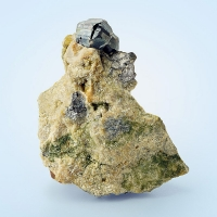 Cassiterite & Arsenopyrite On Gilbertite