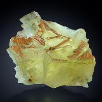 Fluorite With Limonite