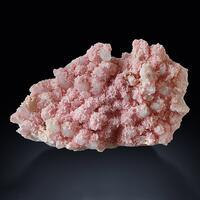 Rhodochrosite With Rock Crystal