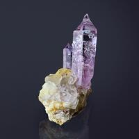 Quartz Var Amethyst On Calcite