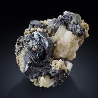 Hematite With Rutile & Albite