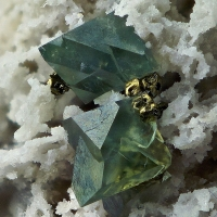 Boracite With Pyrite On Anhydrite