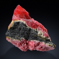 Rhodonite With Pyrite