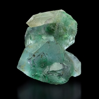 Fluorite With Rock Crystal
