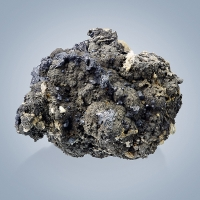 Stephanite & Pyrargyrite On Argentopyrite With Marcasite