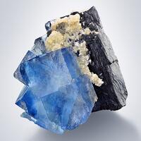 Fluorite With Wolframite
