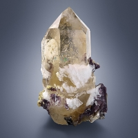 Citrine With Lepidolite & Tourmaline