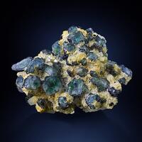 Fluorite With Beryl & Herderite On Muscovite