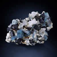 Aquamarine & Schorl With Orthoclase