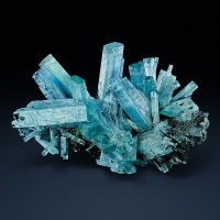 Aquamarine With Schorl
