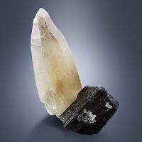 Quartz With Schorl & Hyalite