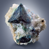 Tetrahedrite With Malachite & Azurite