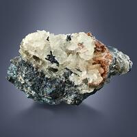 Stromeyerite On Calcite & Sphalerite