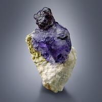 Fluorite On Pericline