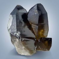 Smoky Quartz With Hyalite