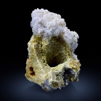 Hyalite & Fluorite On Muscovite Psm Pericline