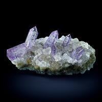 Amethyst On Calcite