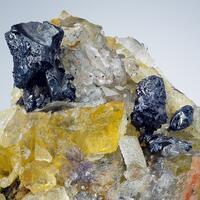Acanthite On Fluorite