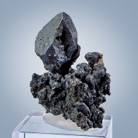 Acanthite With Native Silver