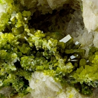Pyromorphite On Fluorite