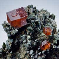 Andradite On Hedenbergite